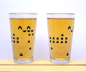 Video Game Pint Glasses Hold 2600 Ounces (Not Really)