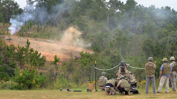 hdt self driving machine gun firing range photo