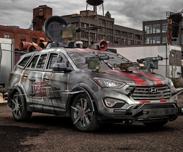 Hyundai Adds Santa Fe to Walking Dead Zombie Survival Fleet