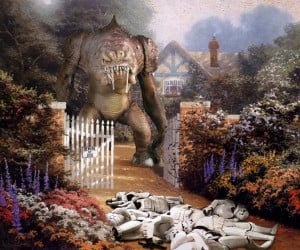 That's Much Better: Star Wars Invades Thomas Kinkade Paintings