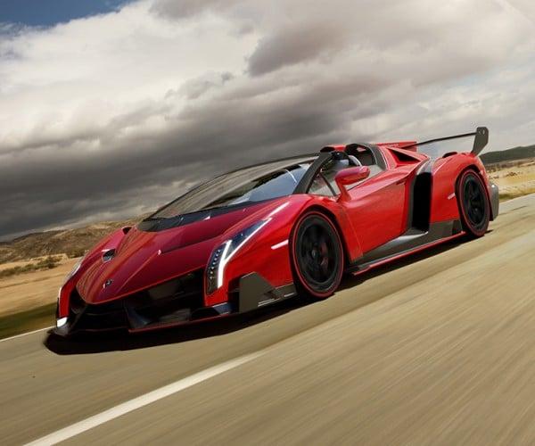 Lamborghini Veneno Roadster Packs 750hp V12 Under its Carbon Fiber Hood