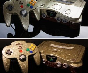 The Legend of Zelda: Ocarina of Time Metallic Flake Nintendo 64 Casemod: Twilight Prince