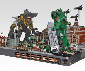 lego monster kaiju mecha robot diorama by hobby inside 2 300x250