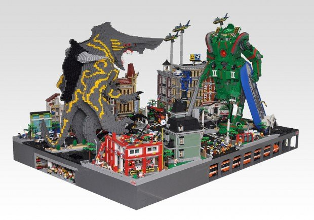 lego monster kaiju mecha robot diorama by hobby inside 620x434