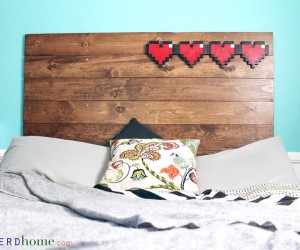 Wake up Energized with a Zelda Life Bar on Your Headboard