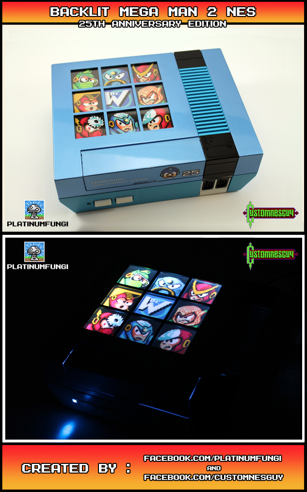 Custom Mega Man 2 25th Anniversary Nes Retro Master