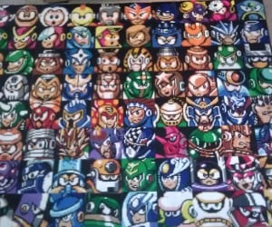 Mega Man Bosses Bead Portraits: Rock's Gallery