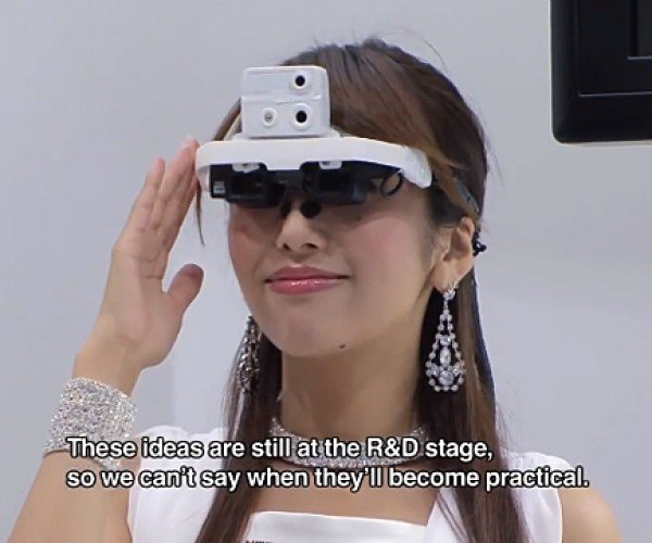 NTT Docomo Wearable Interactive Projector Concepts: Seeing is Computing