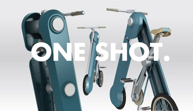 One Shot Instantly Transforms into a Bike