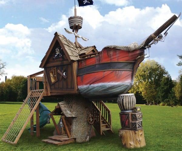 $27,000 Pirate Ship Playhouse, I'm Broke, Matey!