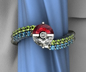 Poké Ball Engagement Ring: You Can't Catch Them All, but You Can Catch One
