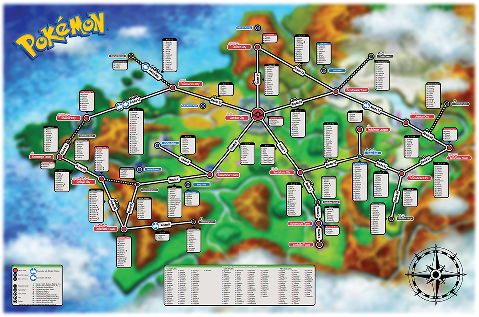 Pok 233 Mon X Y Creature Map Catchtography Technabob