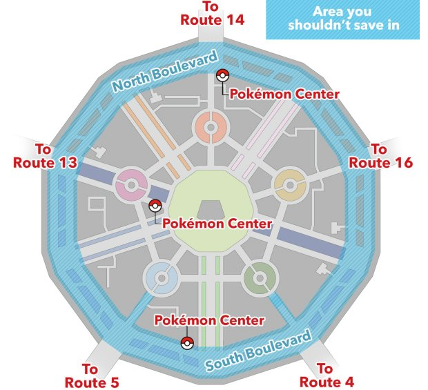 pokemon x y no save zone by nintendo