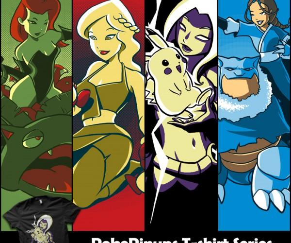 Pokémon & Heroines T-shirts: PokéPinups