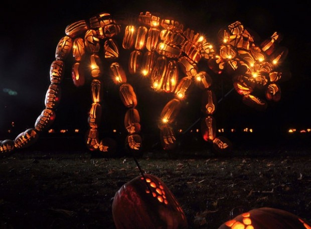 pumpkin dinosaur