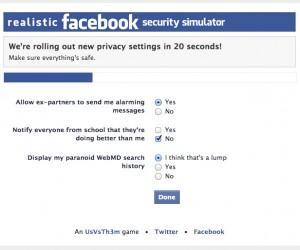 Realistic Facebook Security Simulator: Can You Keep Up?