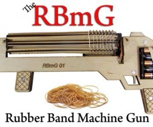 Rubber Band Machine Gun Is Fully Automatic, but Reloading Isn't