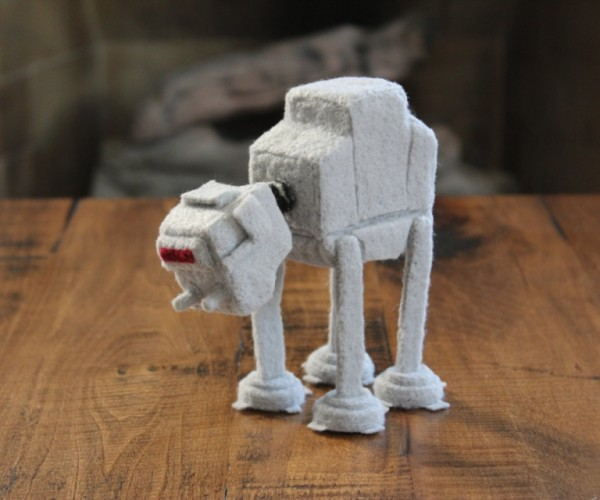 Felted Mini Star Wars AT-AT (All Terrain-Adorable Transport)