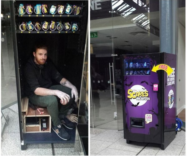 Vending Machine Delivers Scares Instead of Free Treats