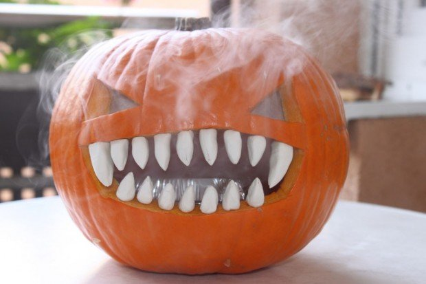 smoking pumpkin
