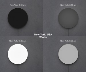 Solar Light Clock Concept Tells the Time by Showing Daylight: Protoclock