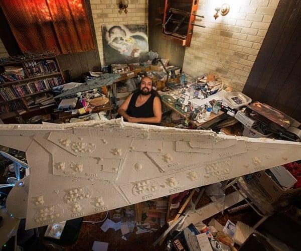 Guy Building Giant Star Destroyer