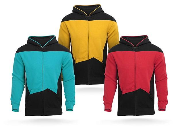 star trek the next generation hoodie by thinkgeek