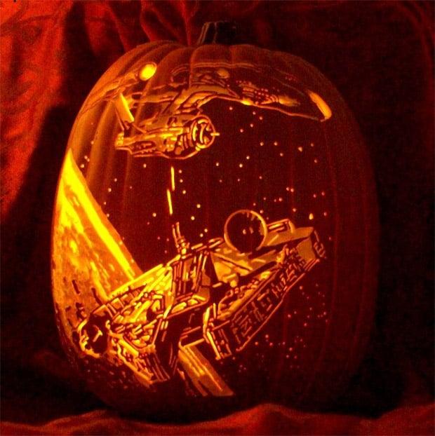 star_trek_star_wars_pumpkin