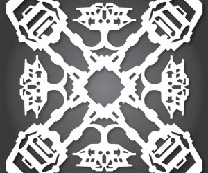 star wars snowflakes at at 300x250