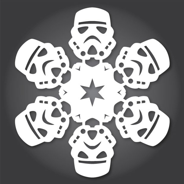 DIY Star Wars Snowflake Patterns Use The XActo Luke Technabob Amazing Snowflake Cutting Patterns