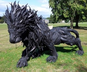 This Lion Sculpture Is Made out of Tires: I Said Tire Iron, Not Tire Lion!