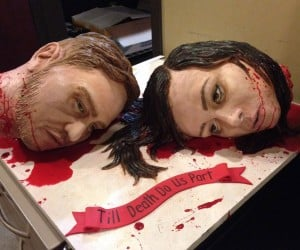 Severed Heads Cake: Till Death Do us Part