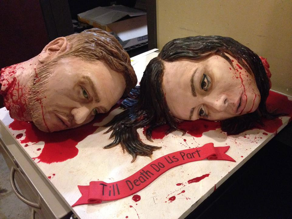 Till Do Us Part Thing Seriously This Great Wedding Cake Has Both The Bride And Groom Decapitated Well Two Heads Are Better Than One