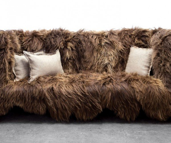 You Won't Notice Wookiee or Ewok Hair on This Chewbacca Sofa