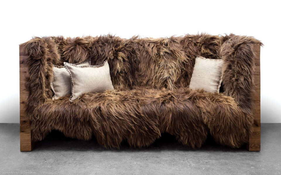 You won t notice wookiee or ewok hair on this chewbacca sofa - Decke fur sofa ...