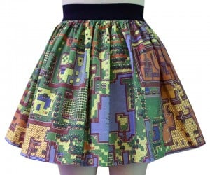 Map of Hyrule Skirt: Princess Zelda Gets a Modern Makeover
