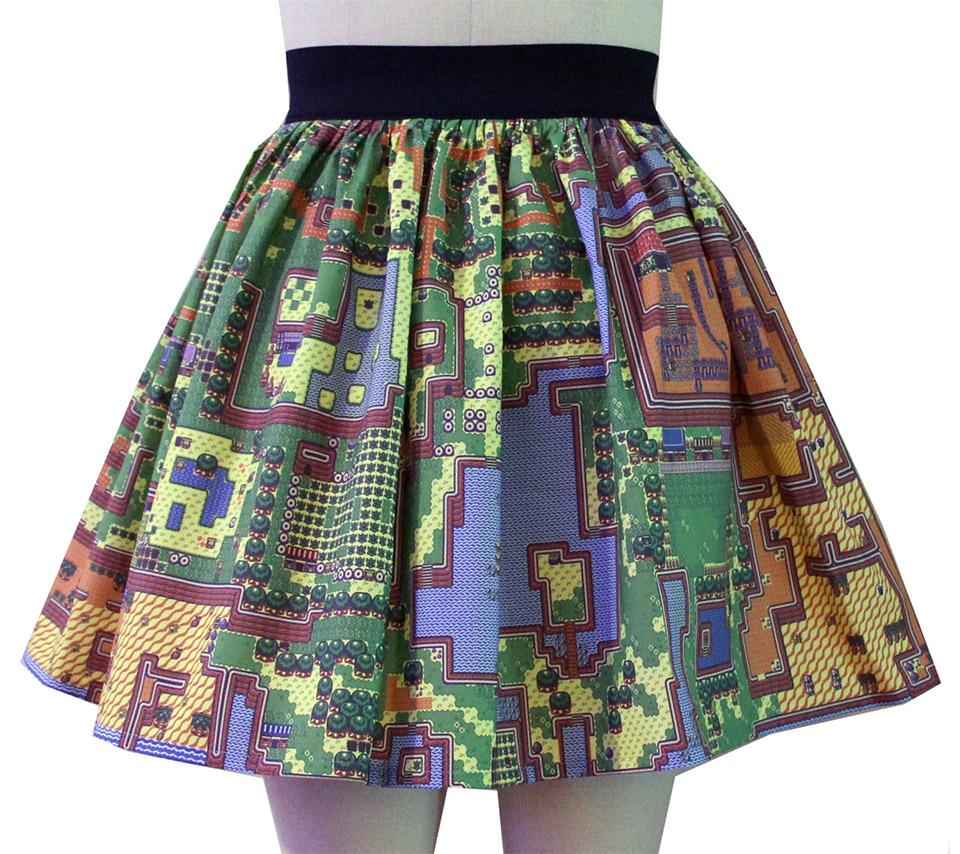 Map Of Hyrule Skirt Princess Zelda Gets A Modern Makeover
