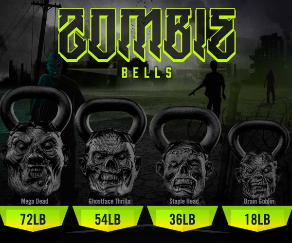 Zombie Head Kettle Bells: Undead for the Unfit