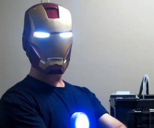 3D Printed & Motion-Activated Iron Man Helmet: Nod On, Nod Off