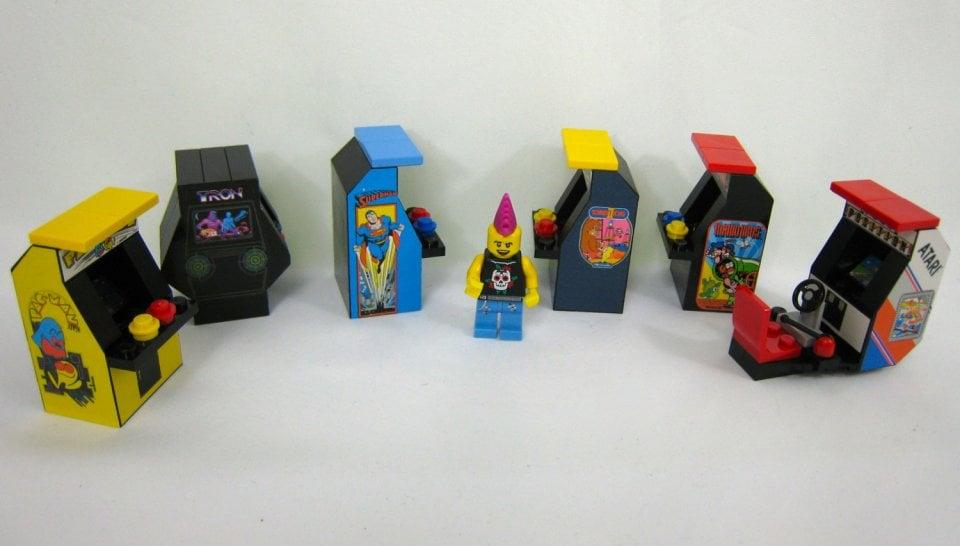 Lego Custom Arcade Machines With A Punk Rocker To Pump