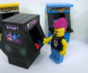 LEGO Custom Arcade Machines with a Punk Rocker to Pump Quarters in Them