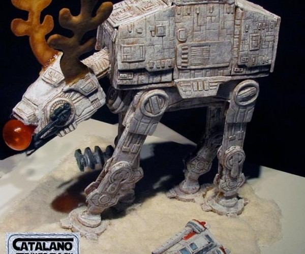 Gingerbread AT-AT Plays Reindeer Games
