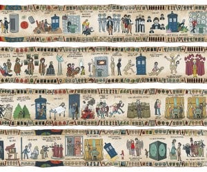 Doctor Who's Story in One Poster: Baywheux Tapestry