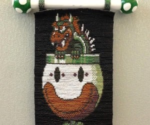 Beaded Bowser Descends from Your Wall