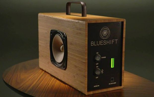 blueshift helium portable speaker with supercapacitor