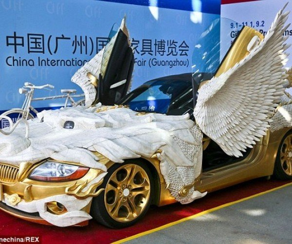 Gold Dragon BMW with Yak Bones: Uglier Than Justin Bieber's Chrome Fisker Karma