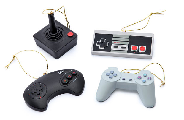 classic video game controller ornaments by thinkgeek