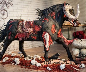 Zombie Horse Cake Looks Disgustingly Delicious