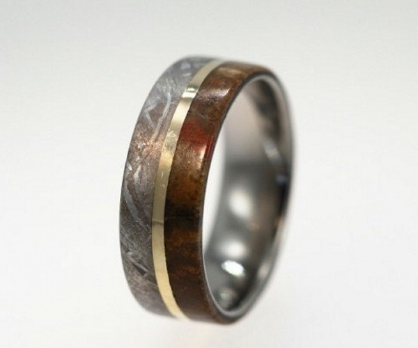 Dinosaur Bone Wedding Bands Mark the Extinction of Your Single Life