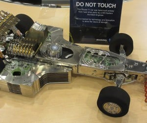 F1 Car Made from Hundreds of Hard Drives